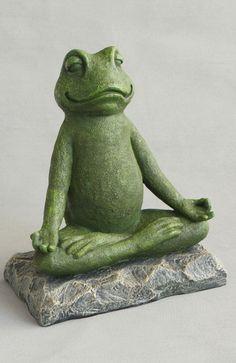 Meditating Garden Yoga Frog Statue by Buddha Groove Frog Statues, Animal Statues, Garden Statues, Buddha Statues, Meditation Garden, Daily Meditation, Meditation Meaning, Meditation Quotes, Garden Frogs