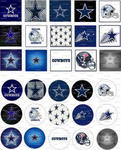 Dallas Cowboys Digital Collage 1 inch / 86 by LisaChristines, $1.50