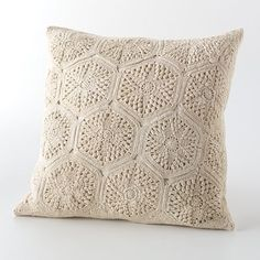 Chaps Home French Riviera Crochet Decorative Pillow
