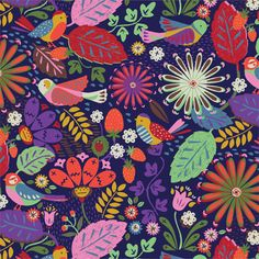 Designed by Sarah Papworth freelance surface pattern designer. Motifs Textiles, Textile Patterns, Textile Design, Design Art, Pretty Patterns, Color Patterns, Surface Pattern Design, Pattern Designs, Fabric Paper