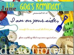 God's Reminder, June 19: God's on your side!