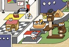 3 Cat Comics for Fans of Neko Atsume Neko Atsume, Cat Comics, Cat Drawing, Cat Memes, Kitty, Kids Rugs, Kawaii, Manga, Drawings