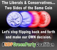 Their SPIN is enough to confuse any voter. Time for CHANGE! #NDPGreenPartyCoalition #CANpoli