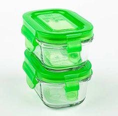 Wean Green Glass Wean Tubs :: Set of 2, Pea