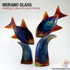 The magic of a contemporary #Muranoglass #sculpture is captured in this piece. Its delicate lines fill the room with elegance and #colour. Check for 'Vetro Artistico® Murano' seal of guarantee when buying a Murano glass product! Visit www.muranoglass.com