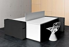 KU reception desk - Design: Francesc Rifé - Manufacturer: Bordonabe ✔ reception / counter furniture and more office / contract furniture. Stylepark - the international platform for design & architecture