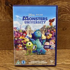 Disney Pixar Monsters University DVD animated movie monsters inc 2 family kids Monster University, Monsters Inc, Family Kids, Disney Pixar, Animation, Baseball Cards, Space, Funny, Movies