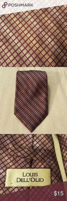 Louis Dell'Olio Silk Tie 100% Silk, hand made. Purple and Lavender. Good used condition. Louis Dell'Olio Accessories Ties