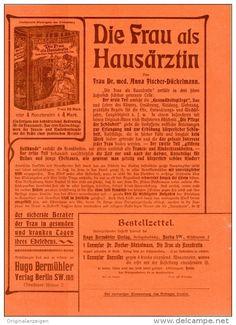 Original-Werbung/Inserat/ Anzeige 1902 - 1/1 SEITE: DIE FRAU ALS HAUSÄRZTIN - ca. 190 x 280 mm