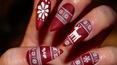 Winter Weihnachten Nageldesign