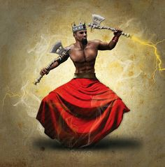 Shango ⚡what Thor was based on. - Yoruba African God of Storms (syncopated Spirit of Thunder, Drums and Dance)