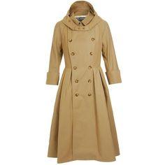 JUNYA WATANABE Cotton gabardine Macintosh coat ❤ liked on Polyvore