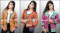 Designer Kutch Embroidered Jacket Retail : https://www.craftnfashion.com Whatsapp : 9375519381 E-mail : craftnjewelery@gmail.com