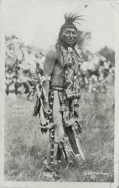 """An RPPC of """"Naked Dreamy Bear"""" Rise Photos, postmarked 1938 from Oglala, South Dakota. I assume that """"Naked Dreamy Bear"""" was an Oglala Sioux."""