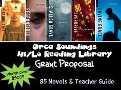 Grant Proposal:  Orca Sounding Collection with Resource Guide  Teen Fiction for Reluctant Readers  Includes 85 different paperbacks in 2 display trays and resource guide  • 112-144 pages each  • Interest level ages 12+  • Reading levels from grade 2.0 to grade 4.5  • Contemporary stories teens will want to read    This grant proposal would work well with ANY requests for a hi/low library from ALL publishers.