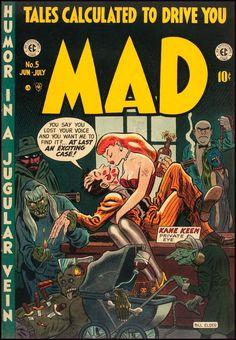 MAD Magazine covers (1952-55)