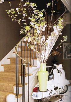 good color match...white paint a little white though.  sisal stair runner
