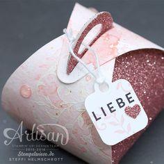 Valentinstagskarte - Stampin' Up! Artisan Design Team - Kirschblüte - Watercolor - Glitzerpapier ❤︎ Stempelwiese