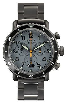 Shinola 'The Runwell' Chronograph Bracelet Watch, 42mm available at #Nordstrom