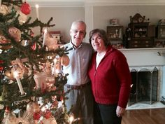 Beachwood couple, Jerry and Darla Arnold, turn their house into a vision of Christmas enchantment each year with their antiques holiday display.