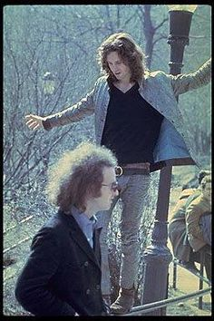 """Jim Morrison and Robby Krieger,  """"Central Park"""" New York 1968"""