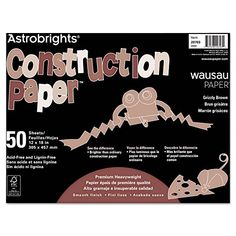 Wausau 20703 Astrobrights Construction Paper 72lb 12 x 18 Grizzly Brown 50 SheetsPack * More info could be found at the image url.-It is an affiliate link to Amazon. #DrawingPaintingSupplies