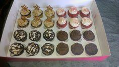 Salted Caramel, moose tracks, triple chocolate fudge, and red velvet cupcakes