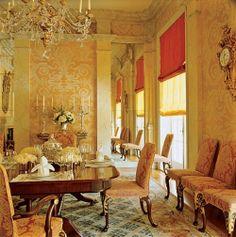 John Stefanidis designed this beautiful dining room.