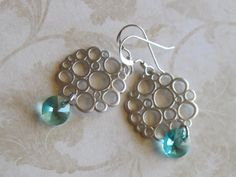 Small Bubble and Light Turquoise Earrings by LadyInPurple on Etsy, $13.00