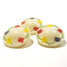 Vintage Buttons - Gingham