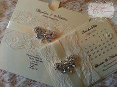 Luxury Handmade Wedding save the date by CrystalCoutureinvite, £100.00