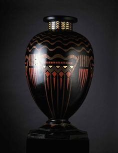 Jean Dunand's monumental vase, c. 1925, from YSL's collection.