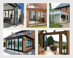 A selection of Bi-Fold doors, Our aluminium range can transform your home. Call to find out why? Upvc Windows, Composite Door, Folding Doors, Conservatory, Gazebo, Porch, Home Improvement, Outdoor Structures, Outdoor Decor
