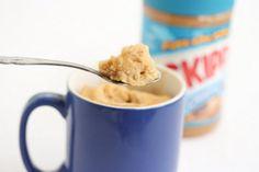 Peanut Butter Mug Cake (low-fat version)