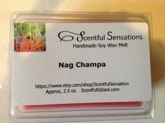 Nag Champa Soy Scented Wax Melts- Maximum Scented on Etsy, $3.50