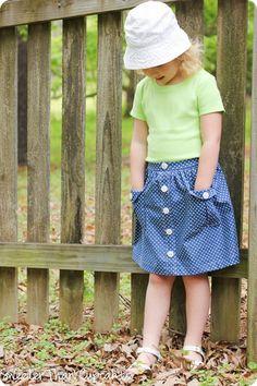 Mini Boden Spotty Chambray Skirt Knock It Off–Tutorial