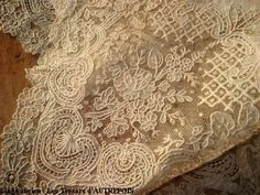 """Alencon lace - sometimes called """"the queen of lace"""" - a needle lace that survived the mechanization of the Industrial Age when Carmelite nuns took up the tradition to ensure the preservation of the technique."""