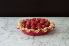 Strawberries 'n Cream Pie recipe: A simple pie with thick creamy filling. #food52