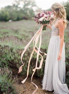 Stunning lavender fall wedding inspiration shoot: http://www.stylemepretty.com/vault/gallery/37833 | Photography: Jennifer Kulakowski - http://jenniferkulakowski.com/