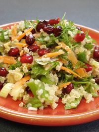 Quinoa and Pomegranate Salad with Asparagus and Walnuts – New American Plate Challenge
