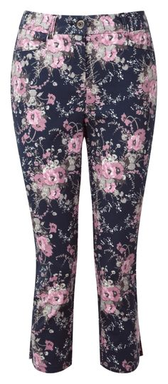 Damart printed cropped trousers Product code B418 www.damart.co.uk