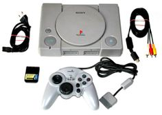 Playstation1 Konsole PAL - SCPH-9002+alle Kabel+1 Controller+Memory Card