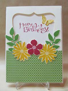 Art journal inspiration - Stampin' Up Sassy Salutations, Secret Garden stamp and die, Papillon Pot Pourri.