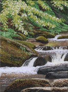 Alison Holt Textile Artist - specialist in Machine Embroidery: The Lower Falls