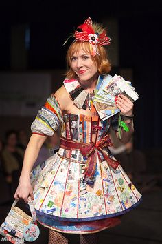 """This was a fashion show put on in Seattle (Re Store). All the fashion was made from found """"Trash""""..... Very Intersting"""