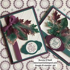 #stampersdozen #bonniestamped #stampinup Vintage Leaves and Leaflets Framelits for this month's blog hop