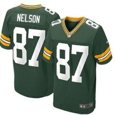Mens Nike Green Bay Packers http://#87 Jordy Nelson Elite Team Color Green Jersey$129.99