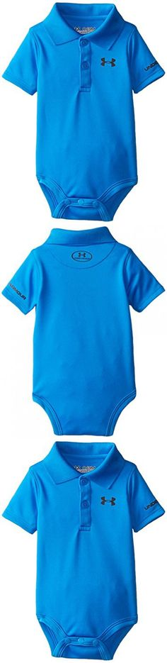 Under Armour Baby-Boys Newborn Polo Bodysuit, Blue Jet, 3-6 Months