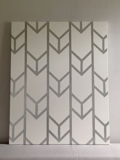 Customizable Hand-Painted Acrylic Large-Scale Chevron Arrow Design on Stretched Canvas