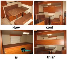 SSSOOO COOL!!! Company Coming?  We have you covered!     FOLD DOWN BUNKS for horse trailer and toy hauler living quarters.